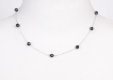 100-20 Silver metal necklace 45 cm shellpearl pearl 6 mm