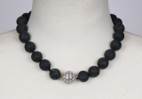 lava 16 mm necklace with simile ball lock