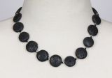 lava 22 mm flat round necklace