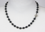 100-79 9 mm Black Queen 47 cmLava necklace/crystal