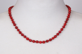 100-83 Coral Pearls 47 cm round 6 mm